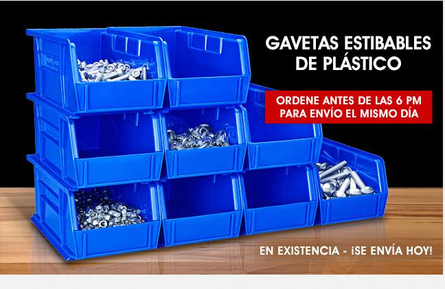 Uline - GAVETAS ESTIBABLES DE PLÁSTICO - Ordene antes de las 6 PM para envío el mismo día