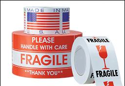 Etiquetas Adhesivas para Manejo y Envío